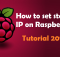 How to set Static IP on Raspberry Pi do it your self hobby
