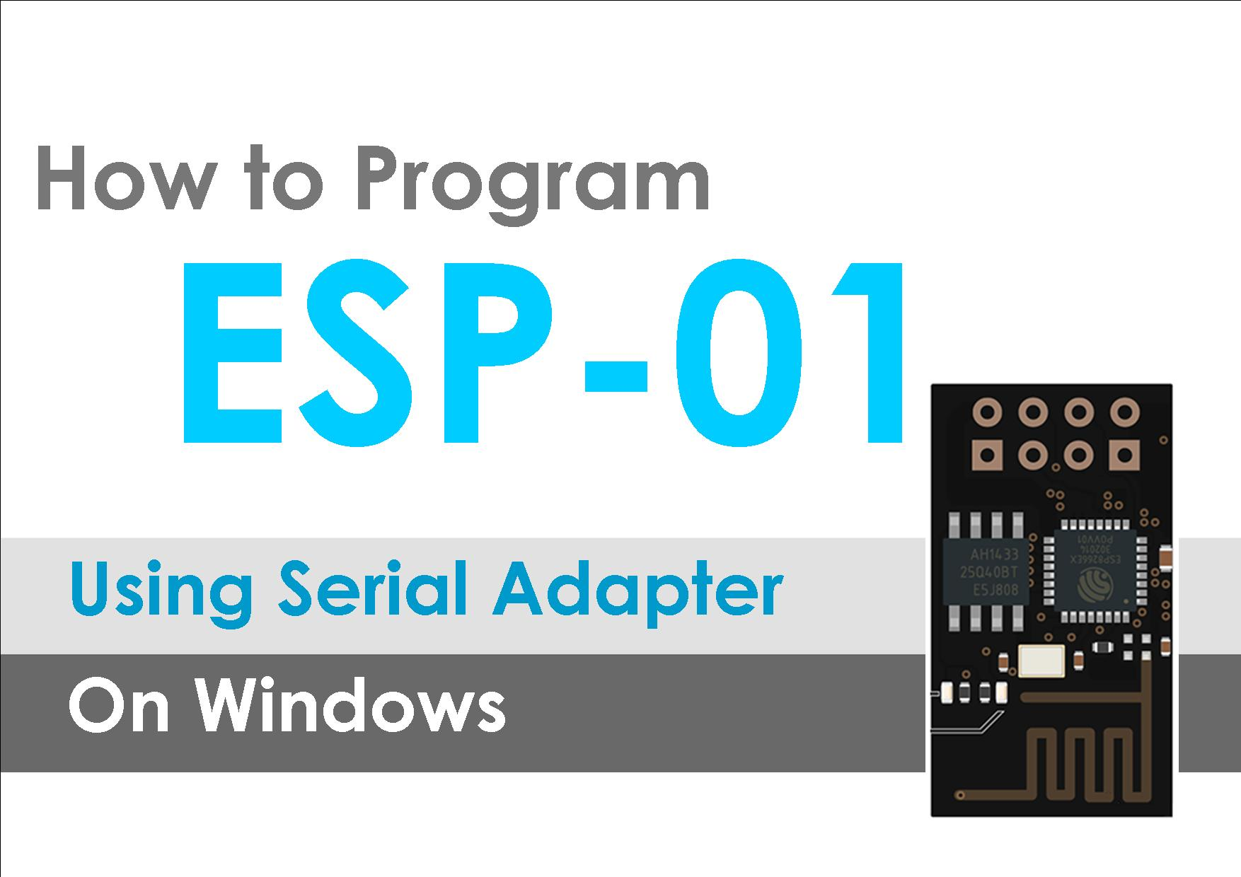 How to flash re program ESP-1