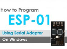 How to program flush ESP-01